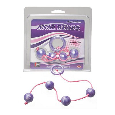 Анальная цепочка Good Vibes anal beads medium purple